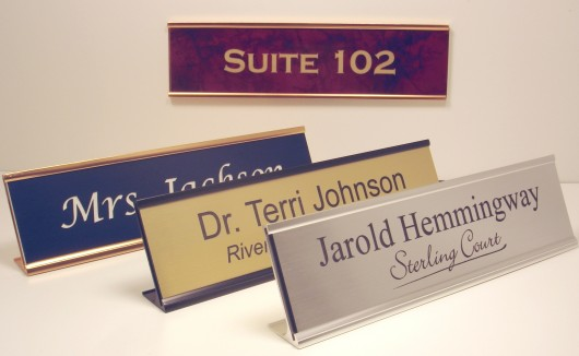 office nameplates